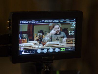 Sergio Martinez helping on the camera tests
